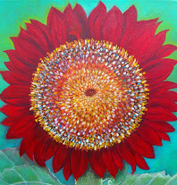 Sunflower No. 2, a painting by American Nature Painter, Judith A. Maddox Saylor, from the Sunflower Series at JAMS Artworks.