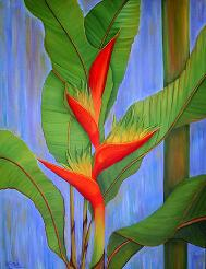 Heliconia No. 3, by American Nature Painter, Judith A. Maddox Saylor.
