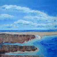 Seaside Study, a painting by American Nature Painter, Judith A. Maddox Saylor at JAMS Artworks.