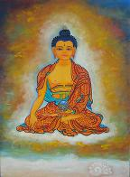 Buddha,No.2, a painting by American Nature Painter, Judith A. Maddox Saylor at JAMS Artworks.